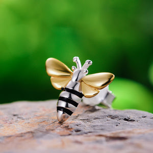 Honeybee Stud Earrings - Sterling Silver - Tafani's