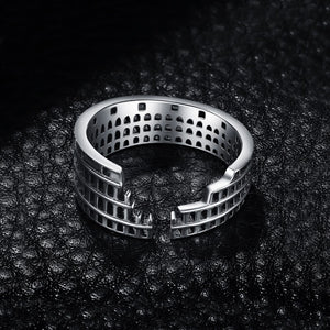 Roman Colosseum Ring - Sterling Silver - Tafani's