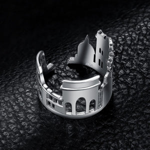 Rome Skyline Ring - Sterling Silver - Tafani's