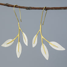 Load image into Gallery viewer, Handmade Leaves Drop Earrings - Sterling Silver - Tafani's