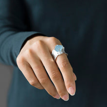 Load image into Gallery viewer, Sterling Silver Ring - Aquamarine