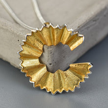 Load image into Gallery viewer, Handmade Pencil Shaving Pendant - Sterling Silver - Tafani's