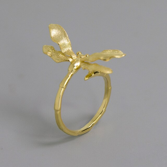 Handmade Dragonfly Ring - Sterling Silver