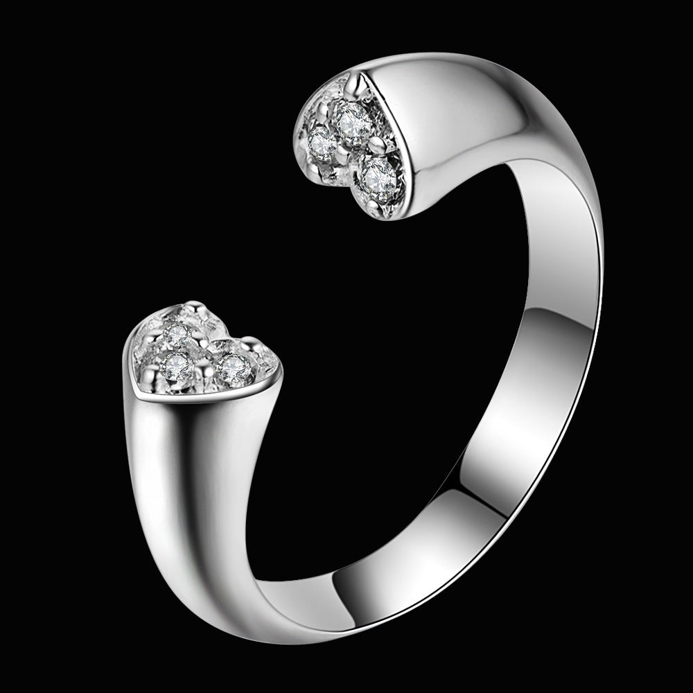 Silver Plated Heart Ring - Resizable - Tafani's