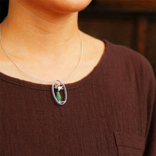 Load image into Gallery viewer, Handmade Sterling Silver Lotus Flower Pendant - Natural Aventurine - Tafani's