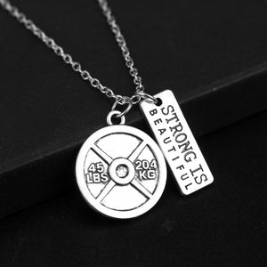 STRONG IS BEAUTIFUL Weight Plate Pendant Necklace - Tafani's