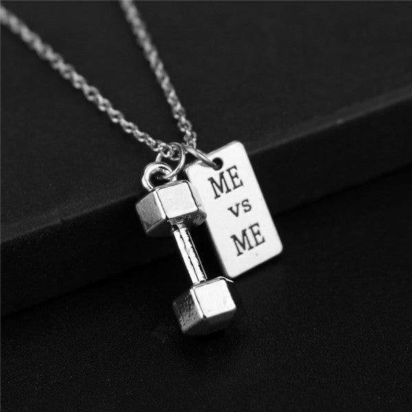 ME vs ME Dumbbell Pendant Necklace - Tafani's