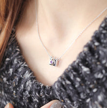 Load image into Gallery viewer, Sterling Silver Camera Necklace - Zircon - Tafani's