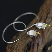 Load image into Gallery viewer, Sterling Silver Bluebell Drop Earrings - Handmade - Tafani's
