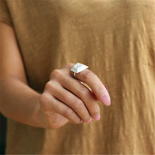 Load image into Gallery viewer, Handmade Sterling Silver Pyramid Ring - Natural Quartz - Tafani's