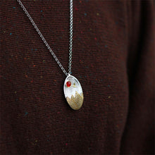 "Load image into Gallery viewer, Handmade Sterling Silver ""The Sunset"" Pendant - Natural Agate - Tafani's"