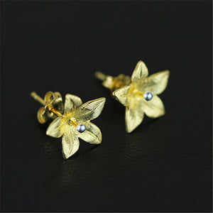 Handmade Sterling Silver Flower Stud Earrings - Tafani's