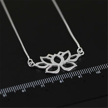 Load image into Gallery viewer, Sterling Silver Lotus Necklace - Handmade - Tafani's