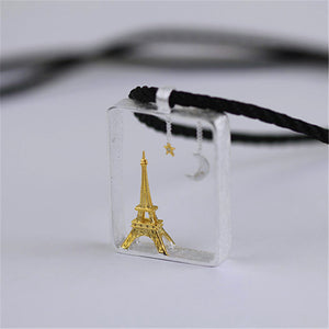 "Sterling Silver ""Paris in Night"" Pendant - Handmade - Tafani's"