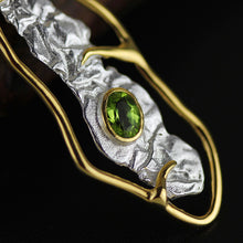 Load image into Gallery viewer, Handamde Sterling Silver Pendant - Natural Topaz / Olivine - Tafani's