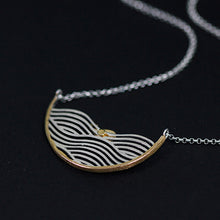 Load image into Gallery viewer, Sterling Silver Whale on Waves Necklace - Handmade - Tafani's