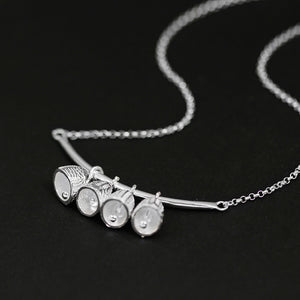 Sterling Silver Bells Necklace - Handmade - Tafani's