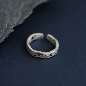 Silver Fish Wave Ring - Resizable - Tafani's