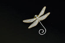 Load image into Gallery viewer, Sterling Silver Dragonfly Brooch - Handmade - Tafani's