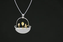 Load image into Gallery viewer, Sterling Silver Little Garden Ring & Earrings & Pendant Set - Handmade - Tafani's