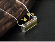 Load image into Gallery viewer, Handmade Sterling Silver Little Garden Necklace - Natural Olivine - Tafani's