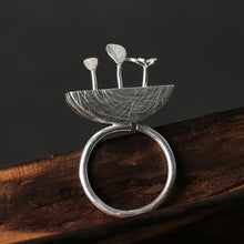 Load image into Gallery viewer, Sterling Silver Little Garden Ring - Handmade - Tafani's