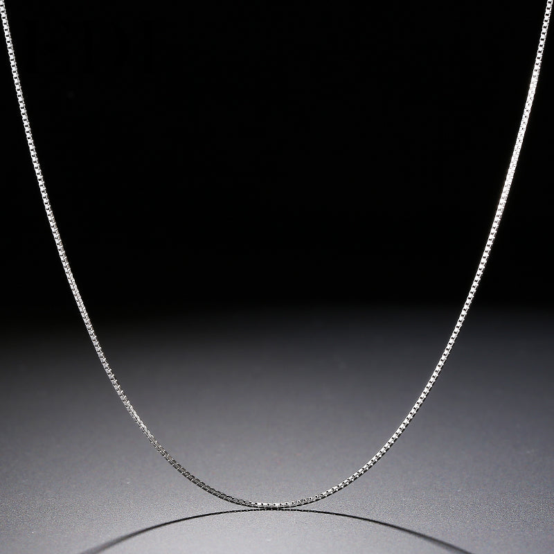 1 mm Sterling Silver Box Chain 16 inch / 18 inch - Tafani's