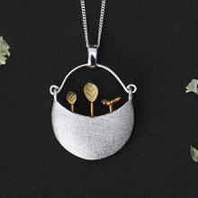 Load image into Gallery viewer, Sterling Silver Little Garden Pendant - Handmade - Tafani's