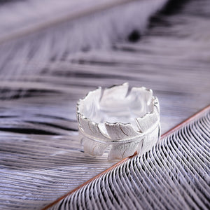 Sterling Silver Feather Ring - Handmade - Tafani's