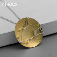 Load image into Gallery viewer, Sterling Silver Star Constellations Zodiac Sign Pendant - Zircons - Tafani's