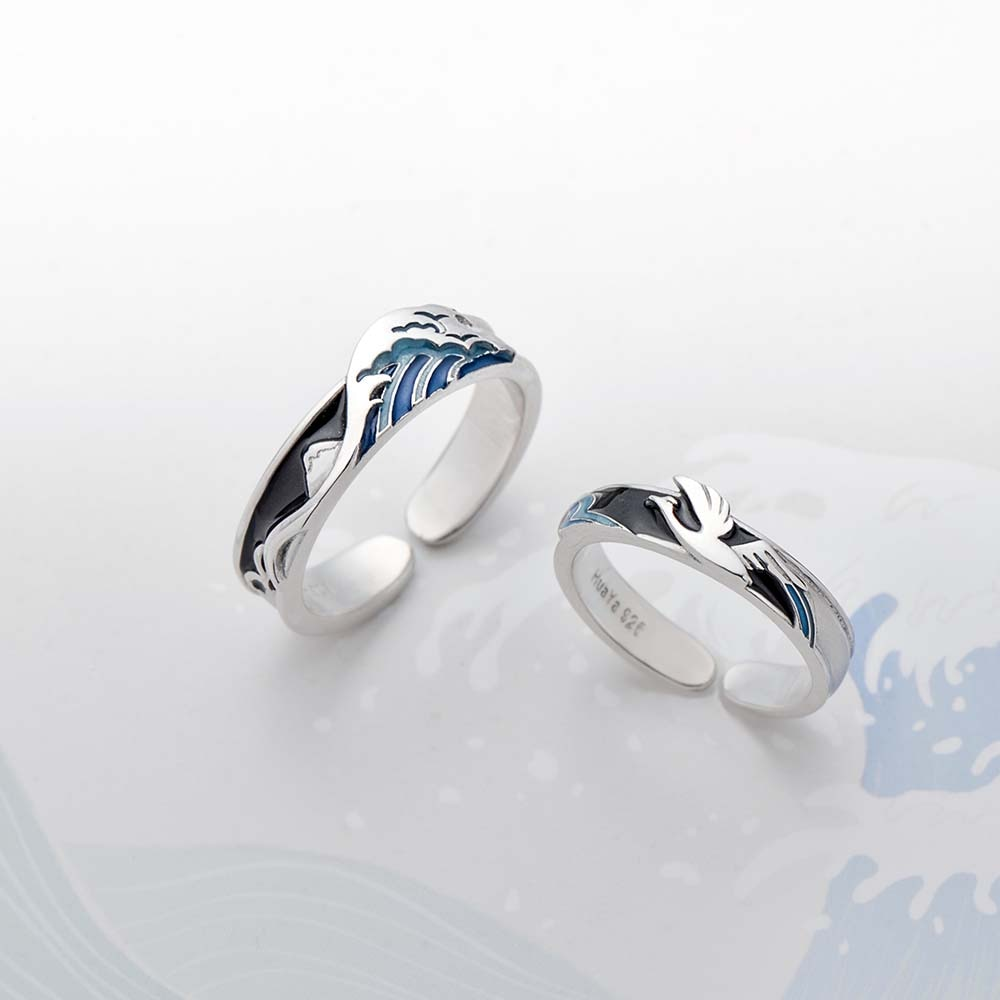Sea Bird / Wave Ring - Sterling Silver - Tafani's