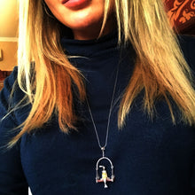 Load image into Gallery viewer, Handmade Sterling Silver Miss Rabbit Pendant - Tafani's