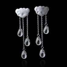 Load image into Gallery viewer, Sterling Silver Raining Cloud Drop Earrings - Handamde - Tafani's