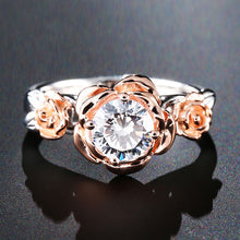 Load image into Gallery viewer, Sterling Silver Rose Flower Ring - Natural Topaz - Tafani's