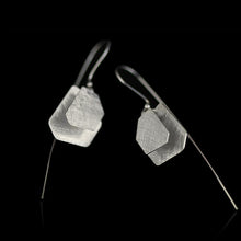 Load image into Gallery viewer, Sterling Silver Irregular Polygon Drop Earrings - Handmade - Tafani's