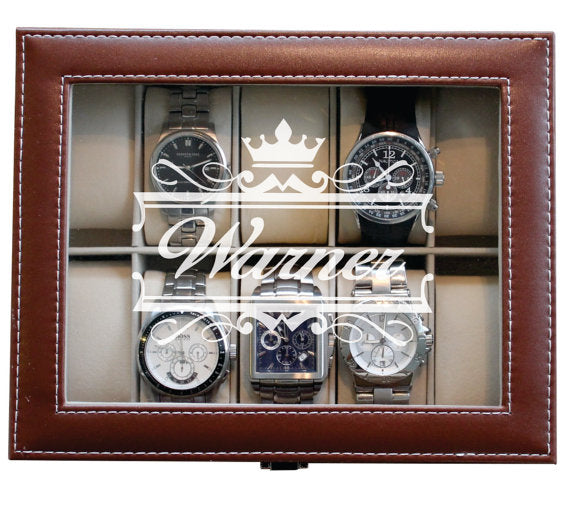 Mens Watch Box, Custom Watch Box, Mens Watch Case, Watch Storage Case, Personalized Watch Case, Watch Box for Men, Leather Watch Box