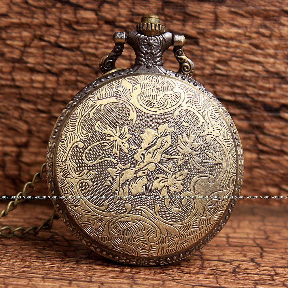 Unique Spider Design Bronze Pocket Watch