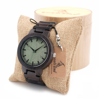 BOBOBIRD C30 Ebony Wood Watch