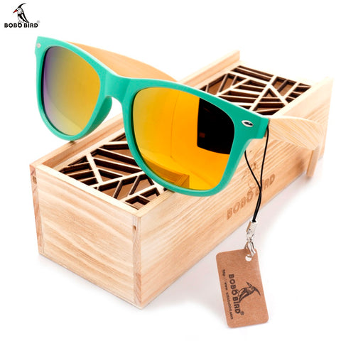 Polarized Bamboo Wooden  Sunglasses
