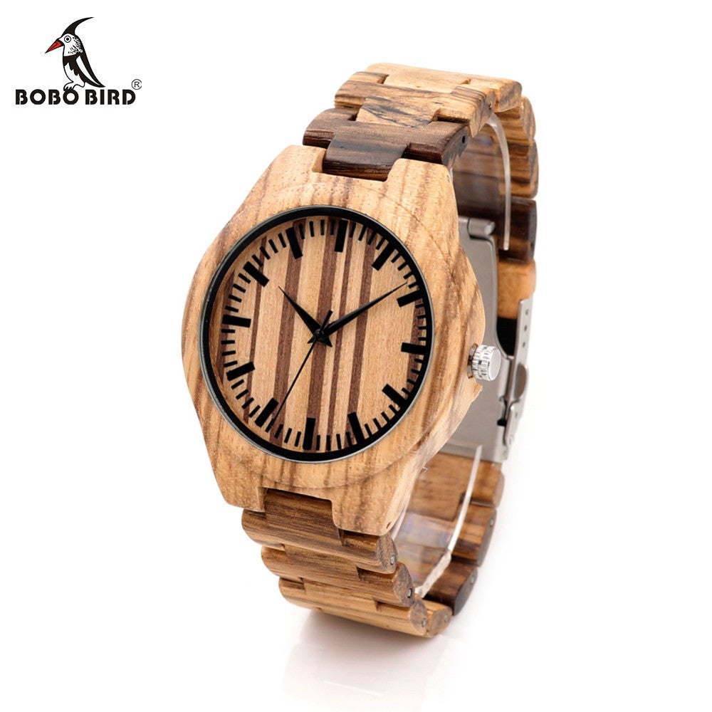BOBO BIRD G22 Wood Watch for Men Full Zebra Watche