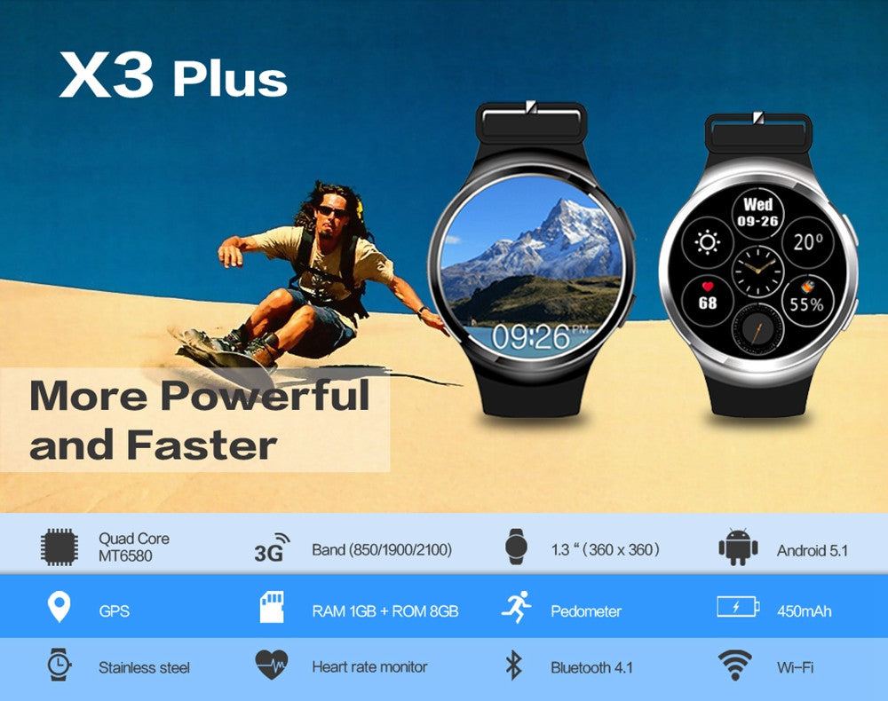 Smart Watch X3 with GPS Sensor