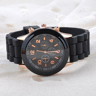 2017 Roman Numerals Leather Band Wrist Watch