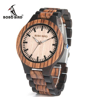 BOBO BIRD Luxury Ebony Wooden Watch