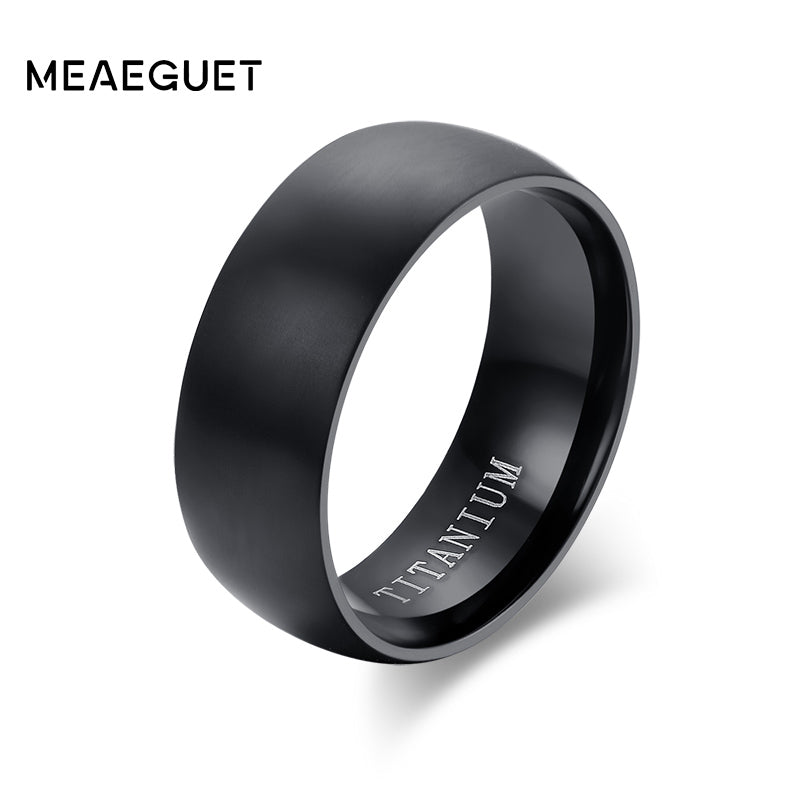 Black Titanium Ring Matte Finished Wedding Bands