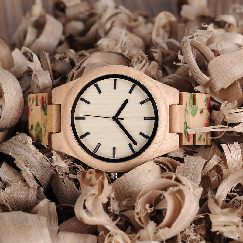 BOBO BIRD WL26 Strong Pine Wood Watch