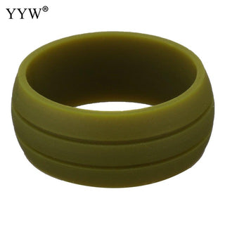 1PC Multicolor Hypoallergenic Crossfit Silicone Band Wedding Ring