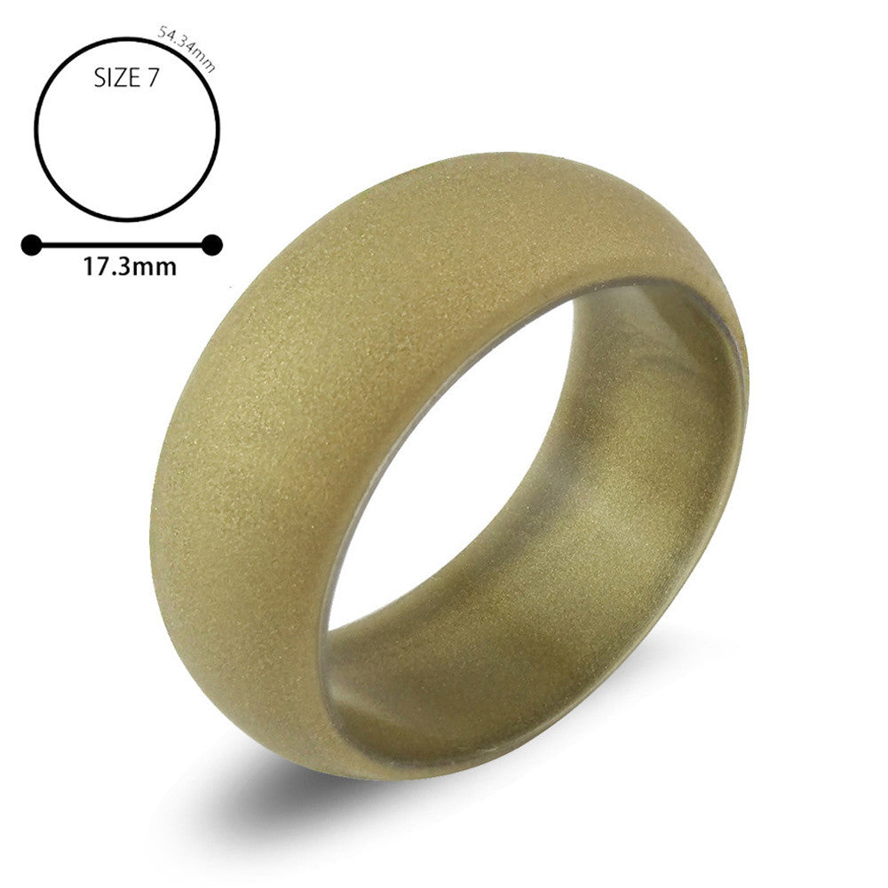 1PC Silicone Wedding Band Engagement Ring Hypoallergenic Mens Womens Jewelry
