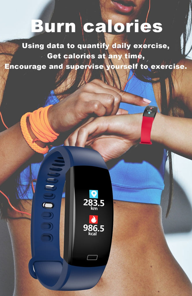 LEMFO Smart Fitness Blood Pressure Heart Rate Monitor