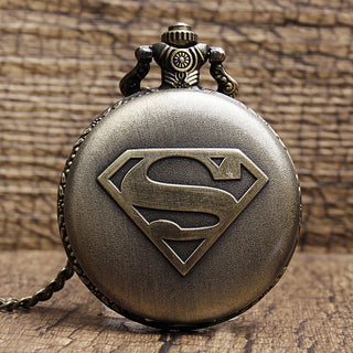 Superman Quarts Vintage Pocket Watch