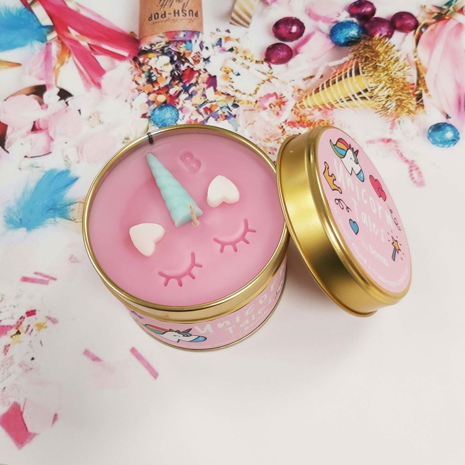 Unicorn Tales Tin Candle